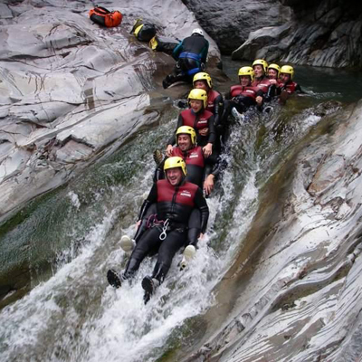 Canyoning absorbed by Nature